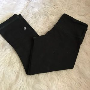 Lululemon Wunder Under Crop Black / Frond